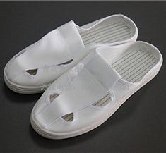 防静电鞋 帆布四孔拖鞋