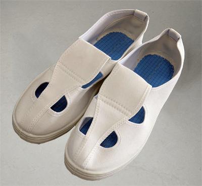 防静电四孔鞋 蓝鞋垫